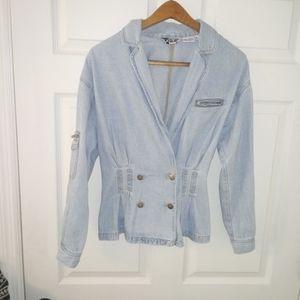 Vintage Together denim peplum jacket